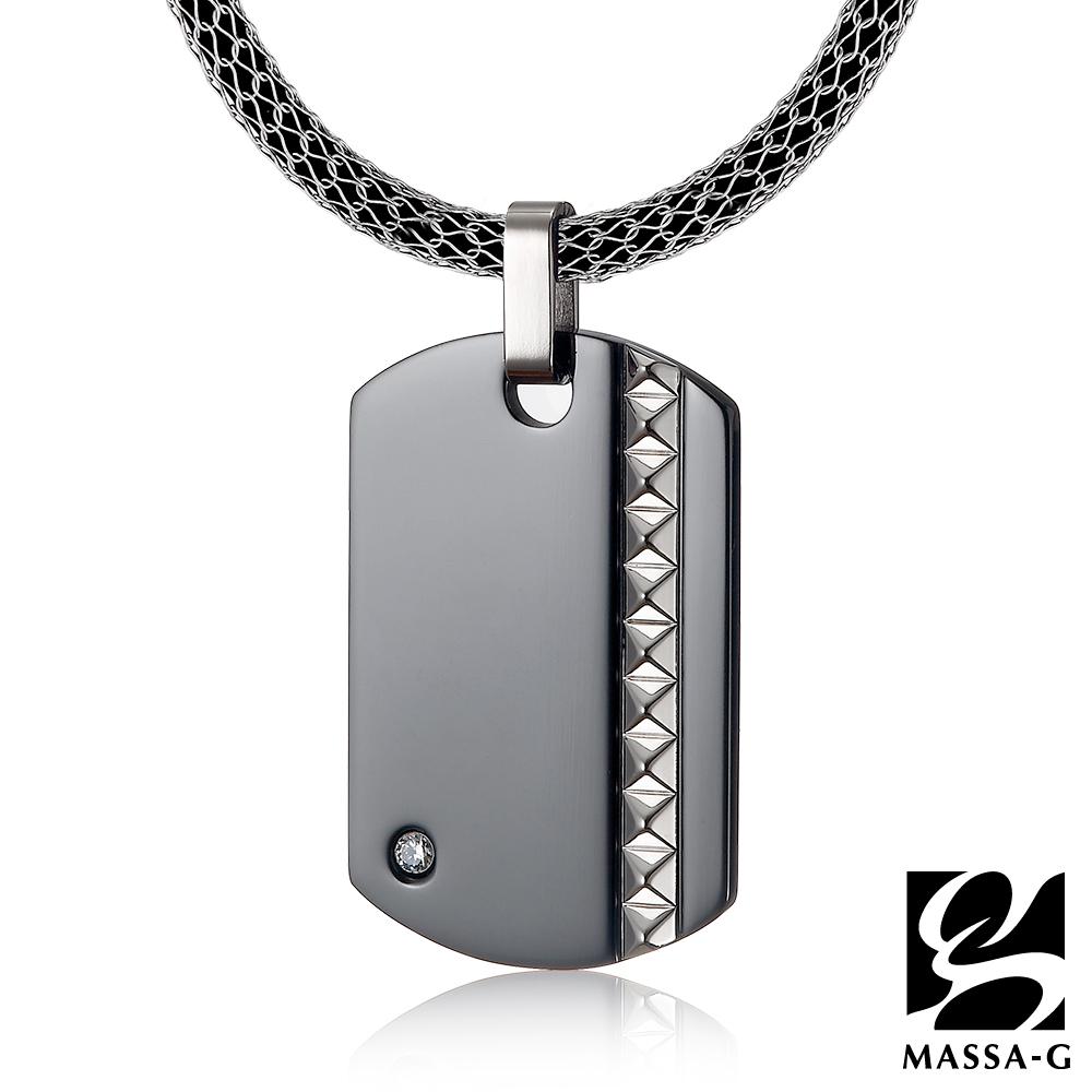 MASSA-G 英倫龐克純鈦墬搭配 X1 4mm超合金鍺鈦項鍊