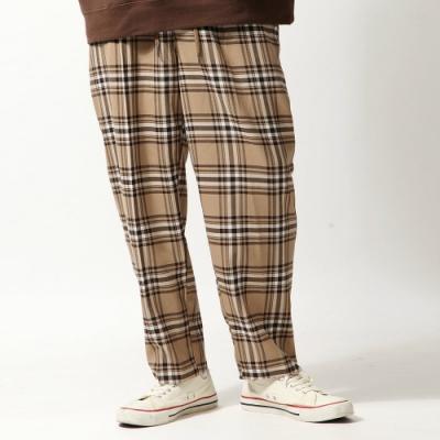 ZIP日本男裝 錐形褲格紋素面長褲(5色)