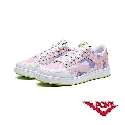 【PONY】SLAM DUNK EG系列-迷彩風格滑板鞋款-女-粉