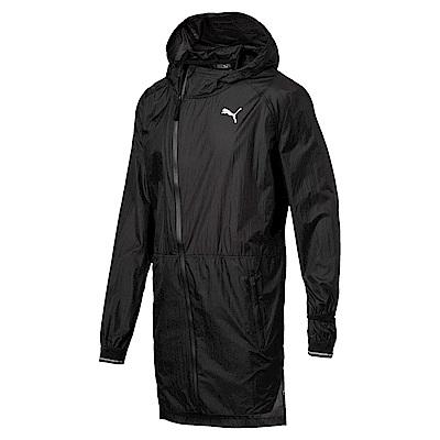 PUMA-男性訓練系列NerverRunBack長版風衣外套-黑色-亞規