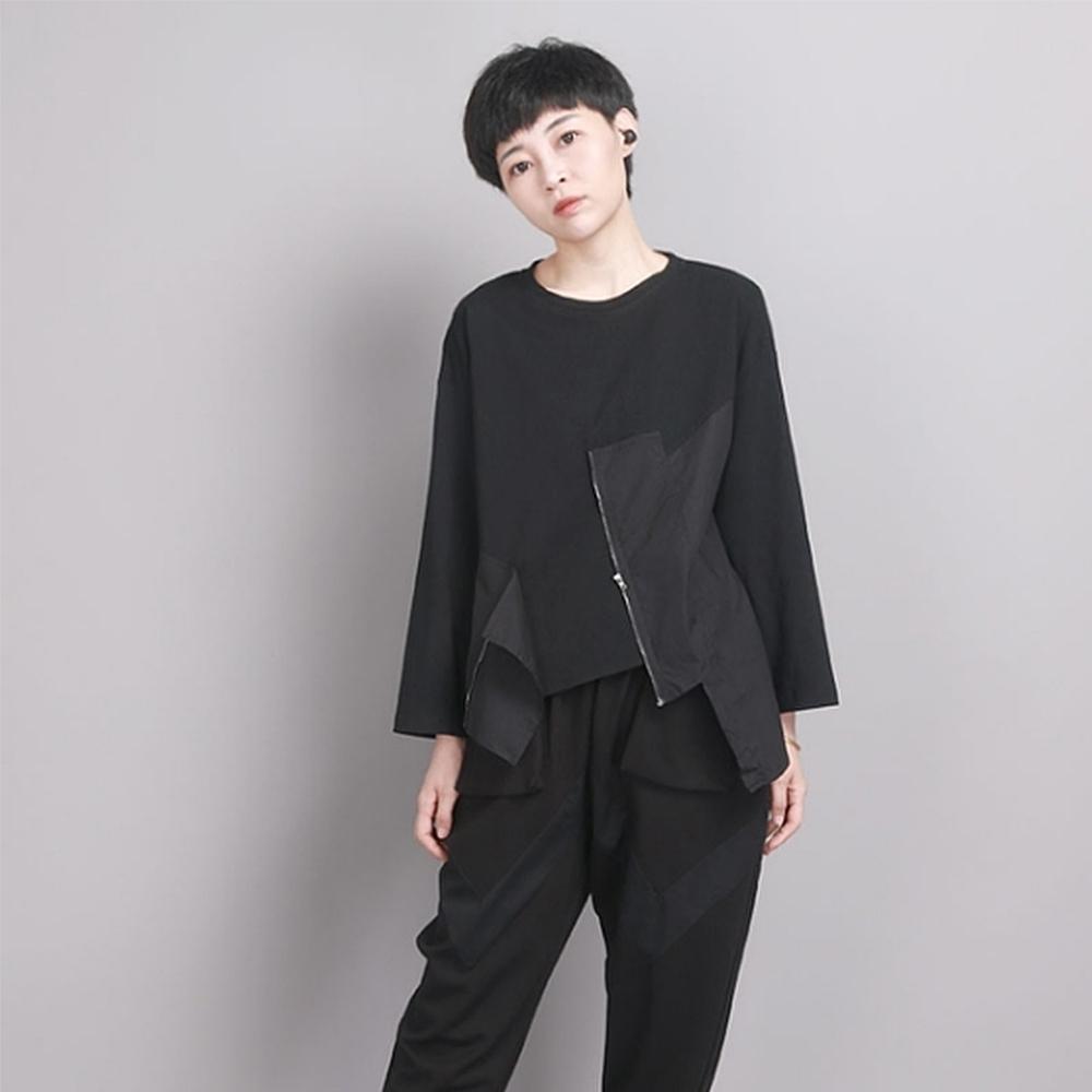 設計所在Style-小眾設計感T恤時尚拼接長袖上衣