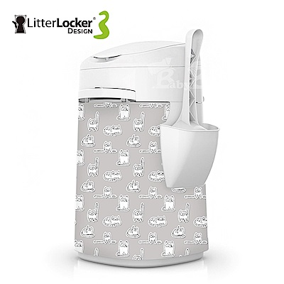 LitterLocker® Design 第三代貓咪鎖便桶 貓貼紙款