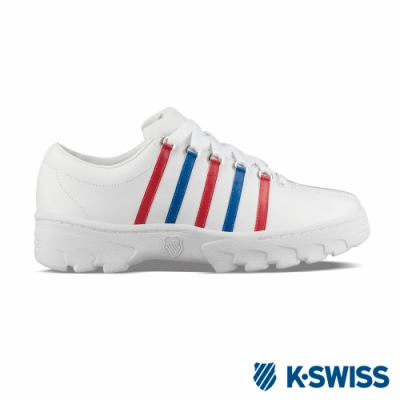 K-SWISS North Classic復古鋸齒鞋-男-白/藍/紅