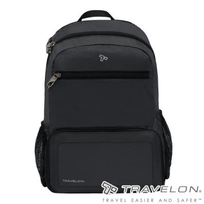 【Travelon美國防盜包】PACKING RFID折疊收納後背包TL-43207黑/防割鋼網/休閒旅遊包/方便攜帶收納