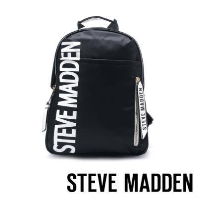 STEVE MADDEN-BFORCE3 經典品牌LOGO潮流雙肩後背包-黑色