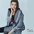 格紋撞色披肩 共三色 TATA