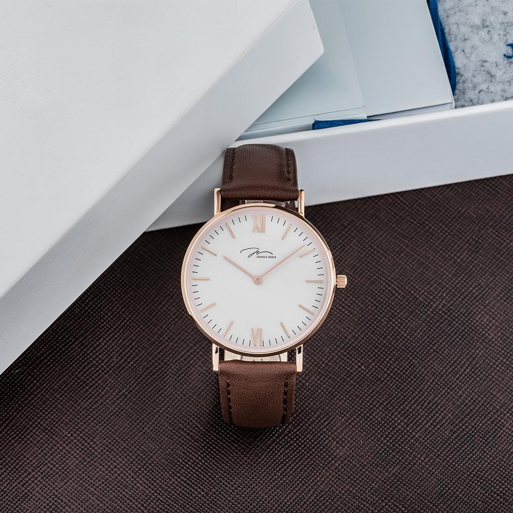 J&V -簡尚糸列 可可棕款錶(X01646-Q3.PPWLZ)-36mm