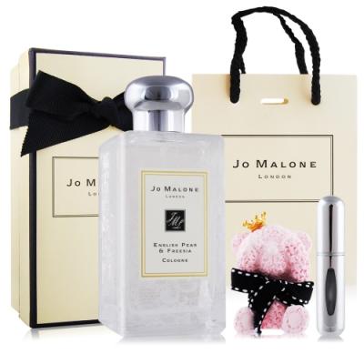Jo Malone 英國梨與小蒼蘭-野玫瑰款香水100ml-加提袋&擴香石&分裝瓶(隨機)