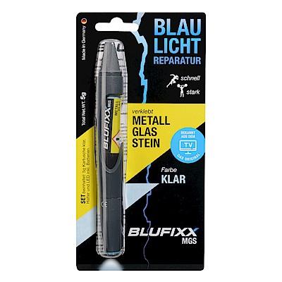 德國BLUFIXX  藍光固化膠(附光筆)- 硬質型透明色 德國製