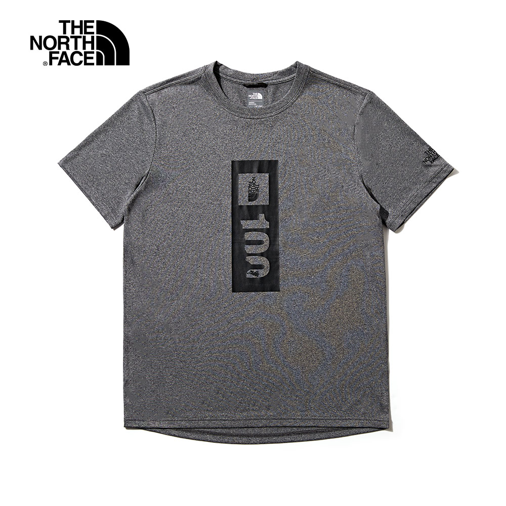 【限定】The North Face北面男女款灰色透氣舒適短袖T恤|4N8QDYY