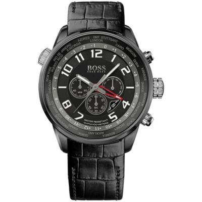Hugo Boss Black簡約流線計時碼男錶/H1512740