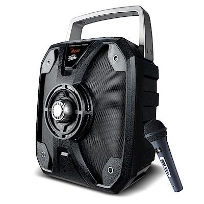 TCSTAR戶外移動式多功能藍牙喇叭附麥克風-黑 TCS 1500