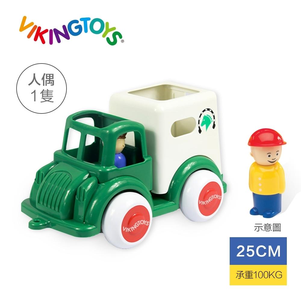 【瑞典 Viking toys】Jumbo德克小馬車(含1隻人偶2隻馬)-25cm