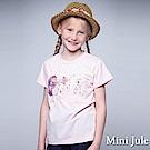 Mini Jule 童裝-上衣 立體彩球花布字母短袖棉T(粉)
