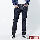 5th STREET 粗矌窄直筒伸縮牛仔褲-男-原藍色