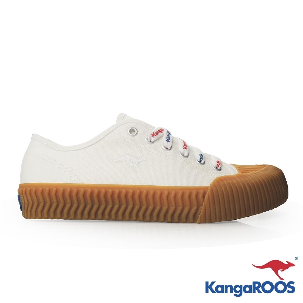 KANGAROOS 女 CRUST 職人手工硫化鞋(白/生膠)