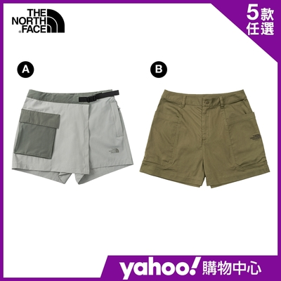 【The North Face】YAHOO人氣組合-北面春夏熱銷男女款休閒短褲系列(5款任選)