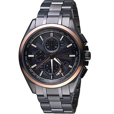 CITIZEN星辰時尚電波對時鈦金屬腕錶(AT8046-51E)