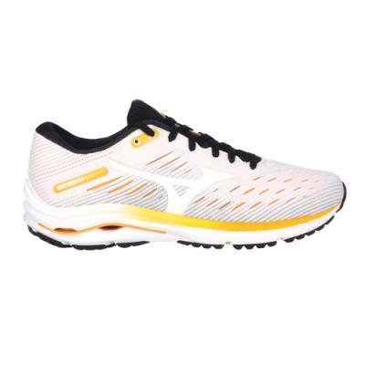 MIZUNO WAVE RIDER 24 男慢跑鞋-路跑 避震 美津濃 J1GC200301 白黃橘