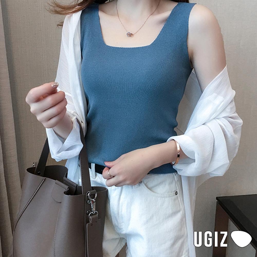 UGIZ-修身氣質針織背心造型上衣-6色(F)