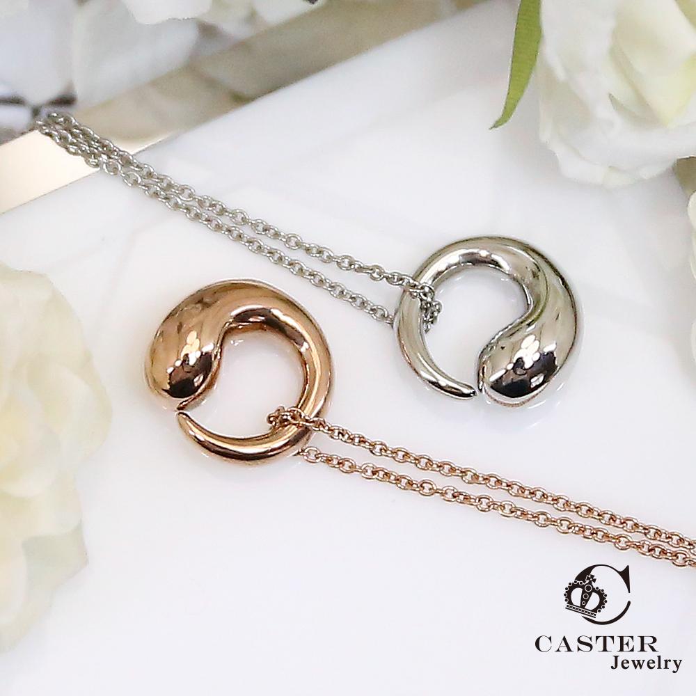 日本 凱斯特 CASTER 圓舞曲 玫瑰金項鍊 防抗過敏 SUS316L頂級不鏽鋼飾品