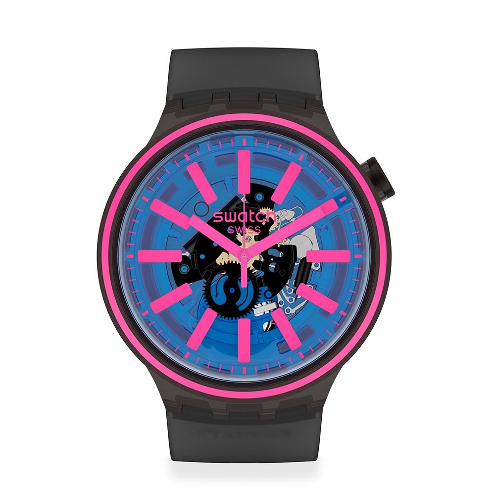 Swatch BIG BOLD光譜系列手錶 BLUE TASTE 亮彩藍-47mm