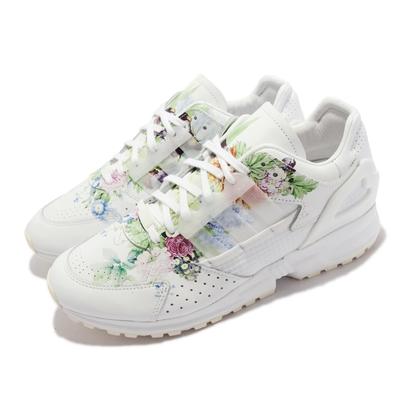 adidas 休閒鞋 ZX 10000 C 麥森瓷器 聯名 男鞋 愛迪達 經典款 花卉圖騰 舒適 穿搭 白 彩 FZ4888