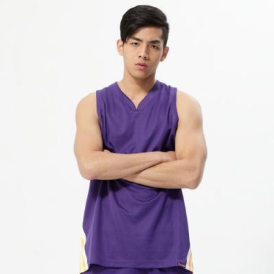 【V-TEAM】斜紋率性吸排籃球背心-中紫