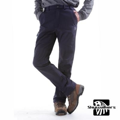 Skywalkers修身型防寒保暖軟殼褲(藍夜黑)