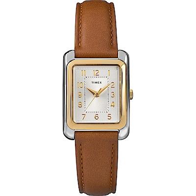 TIMEX 天美時 風格系列 知性女錶-棕色/25mm