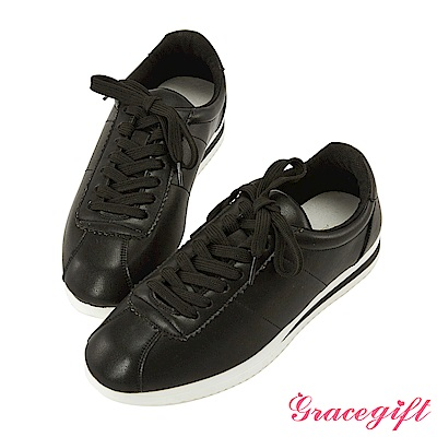 Grace gift-經典復古休閒鞋 黑