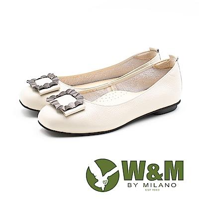 W&M (女)凝結直紋海浪娃娃鞋-米(另有黑)