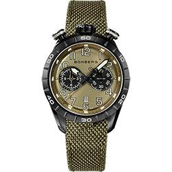 BOMBERG 炸彈錶 BB-68 計時手錶-軍綠/44mm