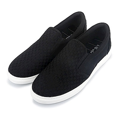 BuyGlasses 交織造型男款懶人鞋-黑