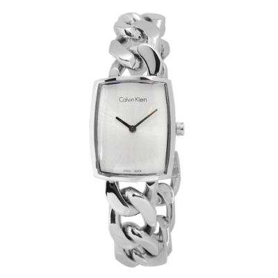 CK AMAZE 愛在西元 經典酒桶型不鏽鋼腕錶-白色/22mm