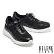 休閒鞋 HELENE SPARK 率性街頭時髦牛皮異材質拼接厚底休閒鞋-黑 product thumbnail 1