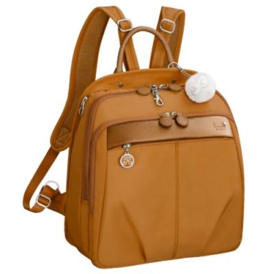Kanana卡娜娜 多功能尼龍大型手提後背兩用包-橙色