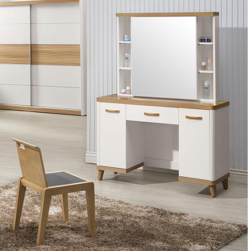 MUNA德恩3.5尺化妝台(鏡台)含椅 106X40X168.3cm