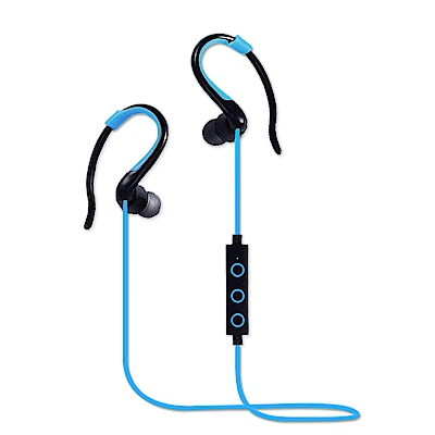 YANG YI 揚邑 YS008運動立體聲耳掛入耳式IPX4級防潑水藍牙耳機-藍色