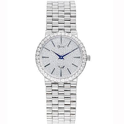 Ogival瑞士愛其華  尊寵滿天星石英腕錶-銀/30mm