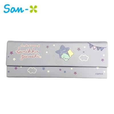日本正版 角落生物 三角眼鏡盒 摺疊眼鏡盒 眼鏡盒 附拭鏡布 角落小夥伴 San-X 752831