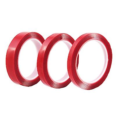WIDE VIEW 壓克力透明超黏無痕雙面膠帶3入組(TP152)