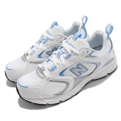 New Balance 慢跑鞋 408 復古 休閒鞋 女鞋 紐巴倫 530相似款 透氣 穿搭推薦 白 藍 ML408B-D