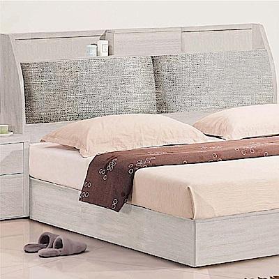 綠活居 芬尼時尚5尺貓抓皮革雙人床頭箱(不含床底)-152x30x108cm免組