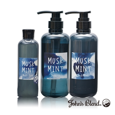 John's Blend 涼感沐浴洗潤組- 麝香薄荷
