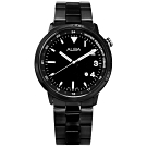 ALBA 運動輕時尚 夜光指針 日期 防水100米 不鏽鋼手錶-鍍黑/42mm