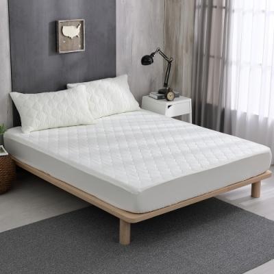 岱思夢 高效能防潑水床包式保潔墊+枕套三件組-雙人5尺 米白