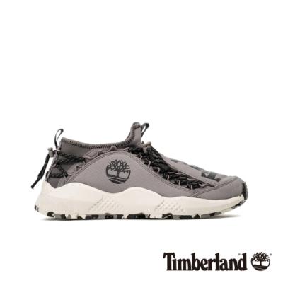 Timberland 男款NNH灰色尼龍織物防潑水防汙運動鞋|A214Z