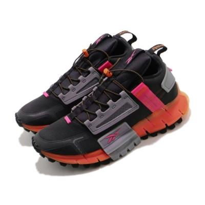 Reebok 休閒鞋 Zig Kinetica Edge 男鞋 輕量 舒適 都市機能 避震 運動 穿搭 黑 橘 FU8182