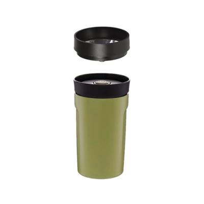 【PO:Selected】丹麥360度飲用隨行保溫咖啡杯350ml(綠)-附濾網